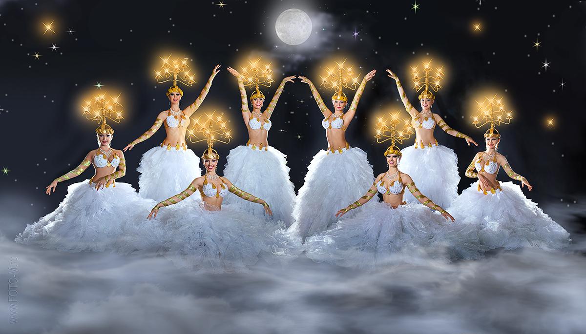 Новогодняя открытка балет, ручной работы день